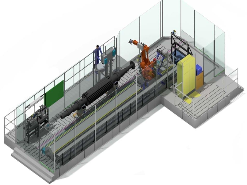 Bild von ROBOTER-ENTGRATEN GENERATORWELLE