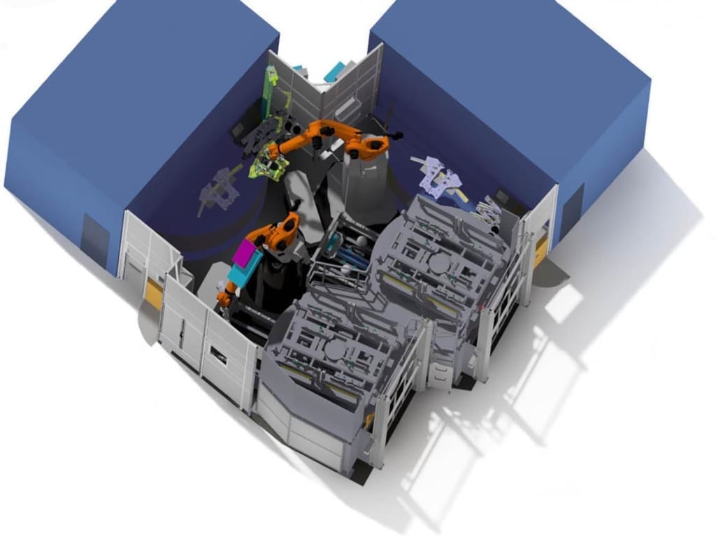 Bild von BE- UND ENTLADEN 3D-LASERSCHWEISSANLAGE
